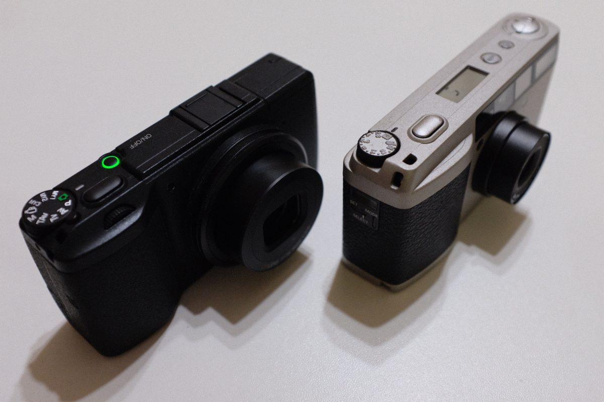 コンパクトフィルムカメラRICOH GR1vの大きさ比較なのです!