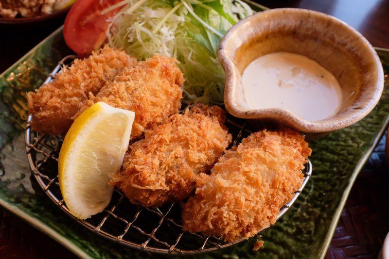 久々の大戸屋で広島産かきフライ定食!