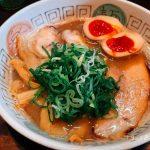 関大前のラーメンストリートの老舗『諭吉』さんで魚介風味なこってりらーめん!